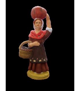 Crèche provençale - Femme à la citrouille
