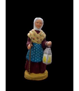 Crèche provençale - Femme à la lanterne