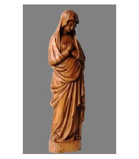 Vierge de l'Annonciation Bois - 26cm - Naturel