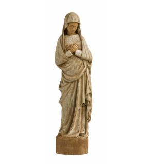 Vierge Annonciation en bois, blanche, 51cm