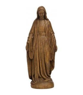 Vierge Notre Dame de grâce - Bois naturel - 20cm