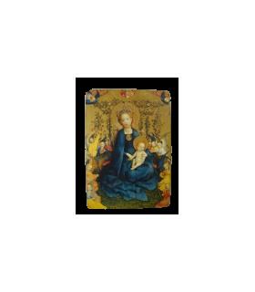 Icône - Vierge à la treille de roses 10*14cm