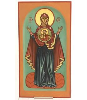 Icône de la vierge Orante 10.5*19 cm