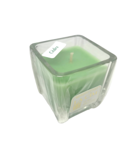 Bougie cube parfumée cèdre