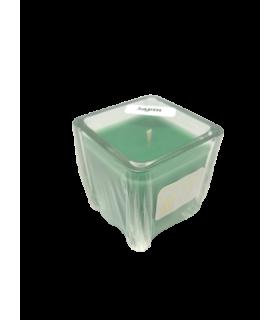 Bougie cube parfumée sapin