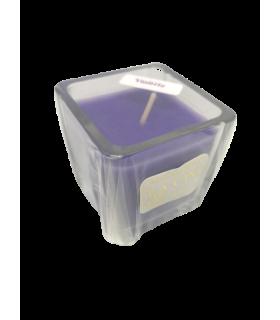 Bougie cube parfumée violette
