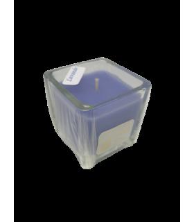 Bougie cube parfumée lavande