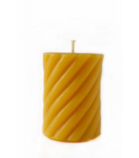 Bougie cylindre torsadée