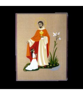 Plaque bois - Jésus, Pain de vie 10.5 cm x 13.5 cm