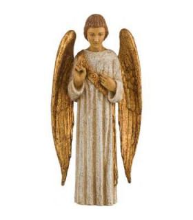 Ange Gardien - Bois - 20cm - ailes dorée