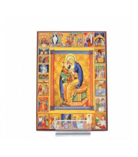 Icône Les Mystères du Rosaire 14.5 cm x 10 cm