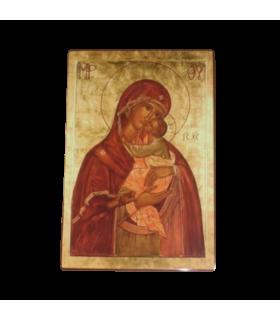 Icône Vierge Douceur de la Vie 10 x 15 cm