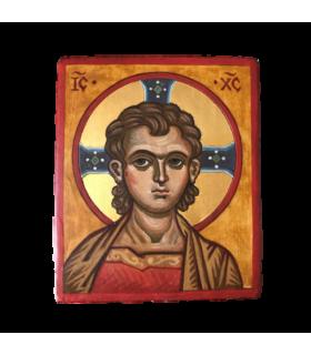 Icône Christ Emmanuel 10x 12 cm