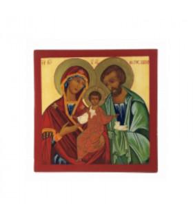 Icône Sainte Famille 17,5 cm x 17,5 cm