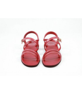 Sandales Hildegarde rouges - Taille 37