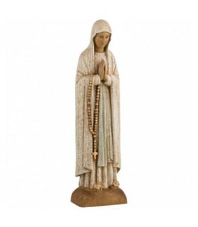 Notre Dame de Lourdes en bois - 27cm