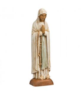 Notre-Dame de Lourdes en bois - 13.5cm