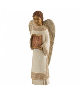 Ange debout blanc bronze