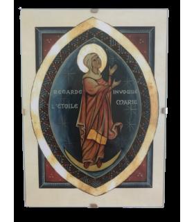 Cadre enluminure - Vierge Marie Regarde l'étoile