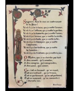 Cadre - Prière de Saint François 13 cm x 19 cm