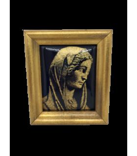 Vierge de la Visitation en grisaille d'or