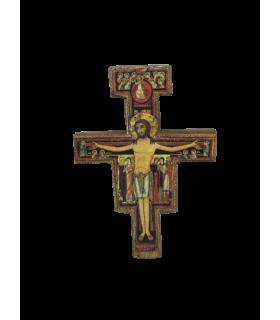 Croix Icône de Saint Damien Assise 14cm