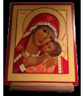 Icône Vierge de Tendresse de Korsun 16,5 x 20,5 cm
