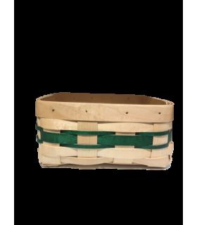 Panier pour la brioche vert 20*18cm
