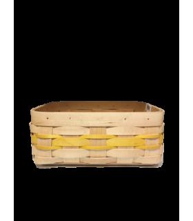 Panier pour la brioche jaune 20*18cm