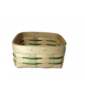 Panier viennoiserie vert 14*14cm