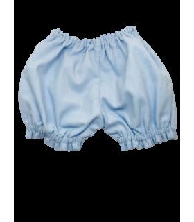 Bloomer fille 6 mois velours bleu milleraie