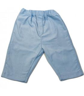 Pantalon 12 mois velours côtelé bleu tendre