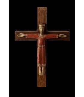 Christ prêtre avec croix 11cm rouge