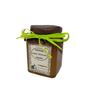 Confiture Ananas Citrons verts Gingembre 370gr