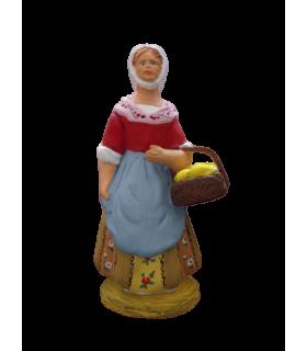 Crèche provençale - Femme au citron