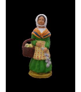 Crèche provençale - La Femme à l'ail