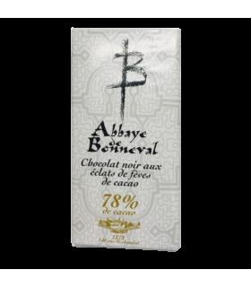 Chocolat noir cacao 78% aux éclats de fèves de cacao