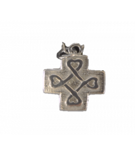 Médaille Croix Coeur argent