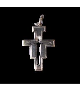 Médaille croix st Damien argent