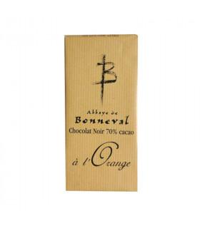 Tablette de chocolat à l'orange 100g