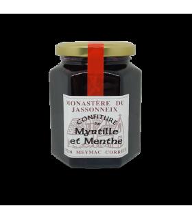 Confiture de myrtille menthe