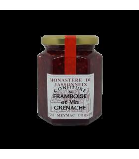Confiture framboise et vin grenache
