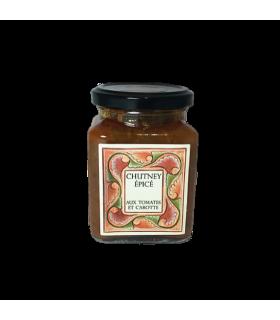 Chutney épicé de tomates aux carottes 300gr