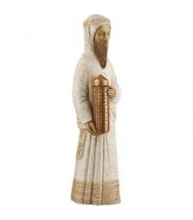 Mage Balthazar debout blanc bronze