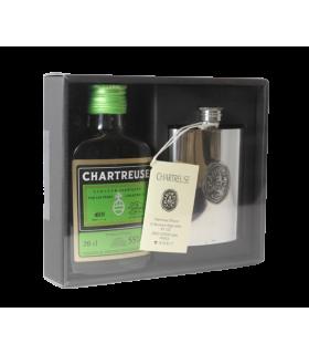 Coffret Chartreuse- flasque étain